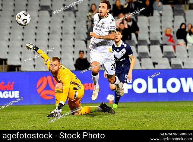 MacArthur FC moved closer to a semi final position with a 3-1 win against the Melbourne Victory in Sydney Featuring: Matt Derbyshire Where: Sydney