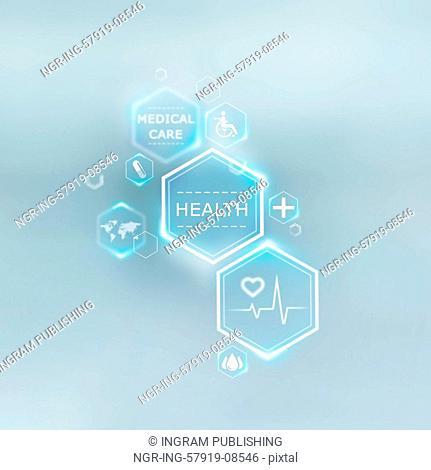Medical background of symbols