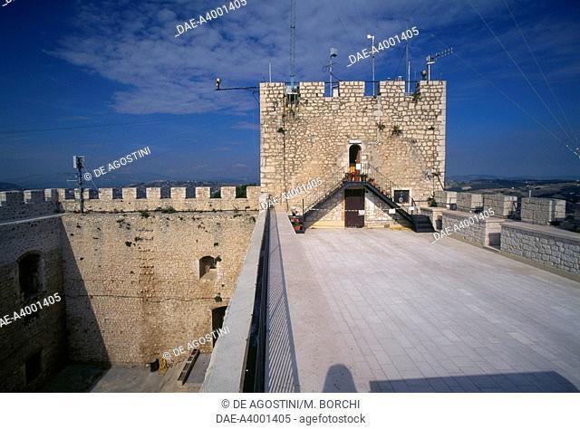 Walls of Monforte castle, Campobasso, Molise, Italy, 15th century
