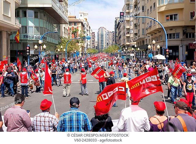 -Demonstration Against the Government Cuts- Alicante 1st of May 2015 (Spain)
