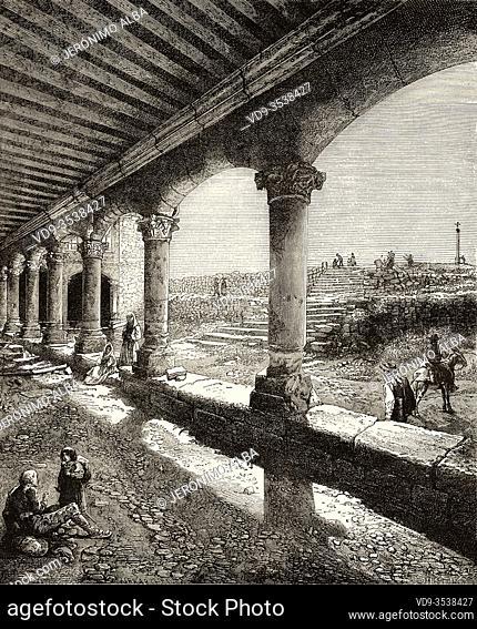The Calvary, Salamanca. Castile and Leon, Spain, Europe. Old 19th century engraved illustration, El Mundo en la Mano 1878