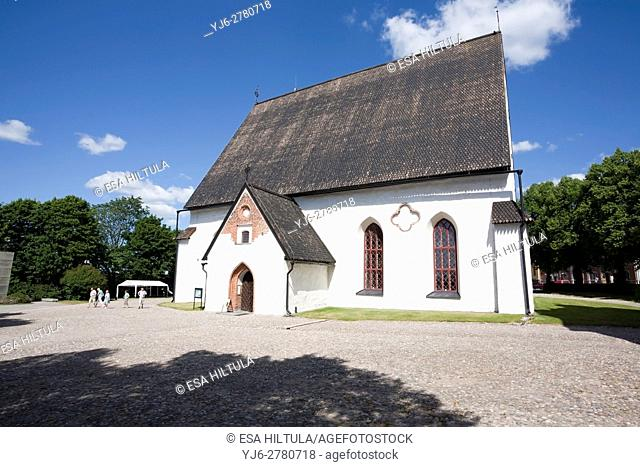 Old cathedral of Porvoo Finland