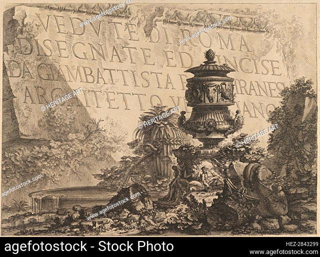 Title-page for 'Vedute di Roma'.., 1760-78. Creator: Giovanni Battista Piranesi
