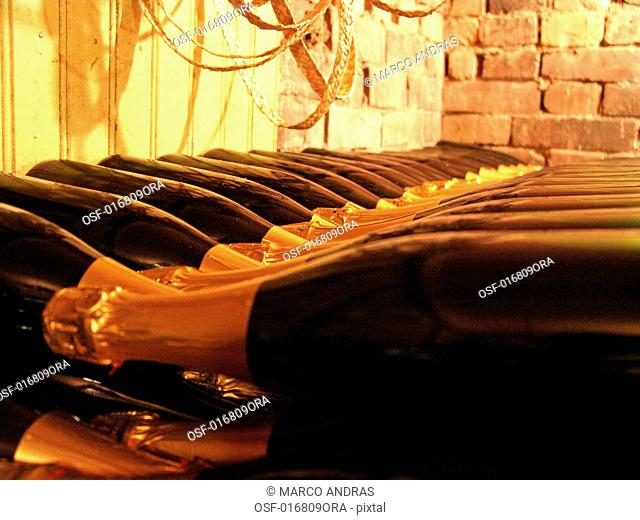 internal wine cellar