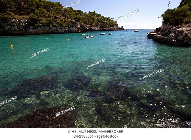 Cala Santanyi, southeast coast, Majorca, Balearic Islands, Spain, Europe