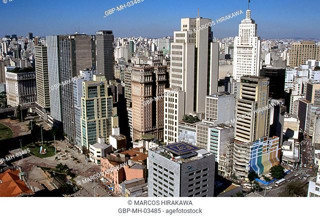 Banco Banespa, Banco Boston, Edifício Martinelli, Largo São Bento, Centro, São Paulo, Brazil