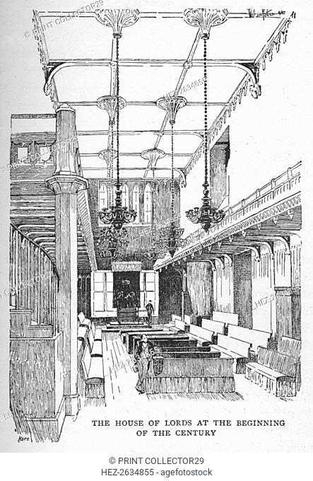 'The House of Lords at the Beginning of the Century', c1897. Artist: William Patten