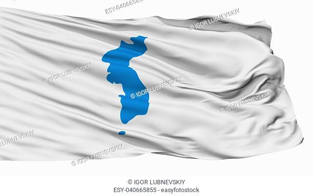 Unification Korea Flag, Isolated On White Background