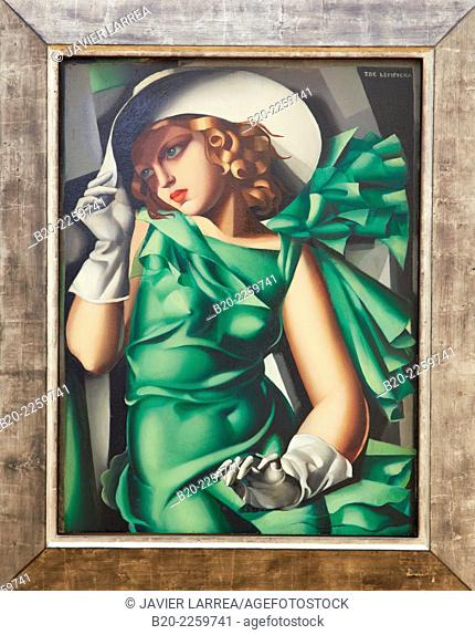 Jeune fille en vert, 1927-1930. Tamara de Lempicka. Centre George Pompidou. Musee National d'Art Moderne. Paris. France