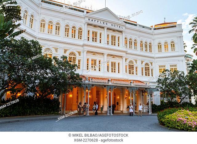 Raffles Hotel. Singapore, Asia