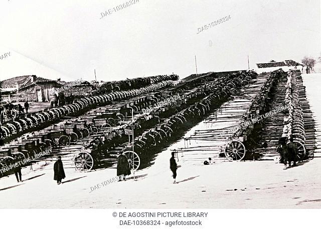Lozengrad military park in Bulgaria. Bulgaria, 20th century.  Sofia, Museo Nazionale Di Storia Militare (History Museum)