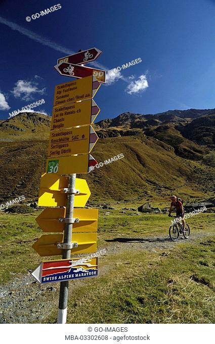 Mountainbiking close Davos, Canton of Grisons, Switzerland