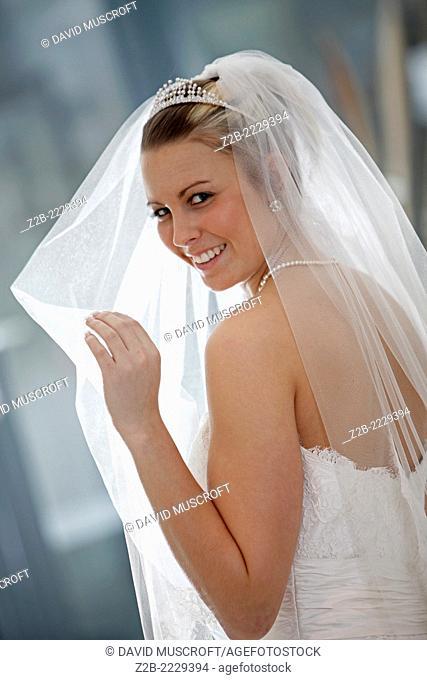 Wedding dress worn by a model
