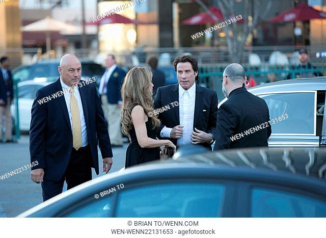 2015 G'DAY USA Gala featuring the AACTA International Awards - Outside Arrivals Featuring: Kelly Preston, John Travolta Where: Los Angeles, California