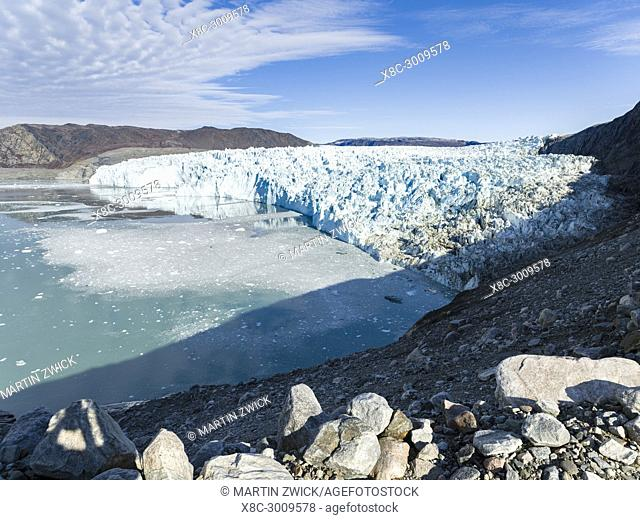 The glacier Eqip (Eqip Sermia) in western Greenland. America, North America, Greenland, Denmark
