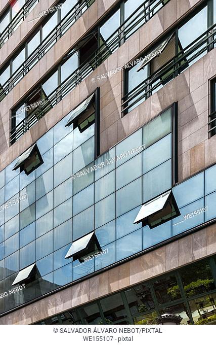 Detail of office building, Vigo, Spain, Galicia, Europe