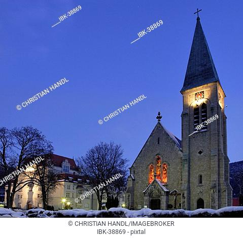 Marienkirche and theatre Berndorf Lower Austria
