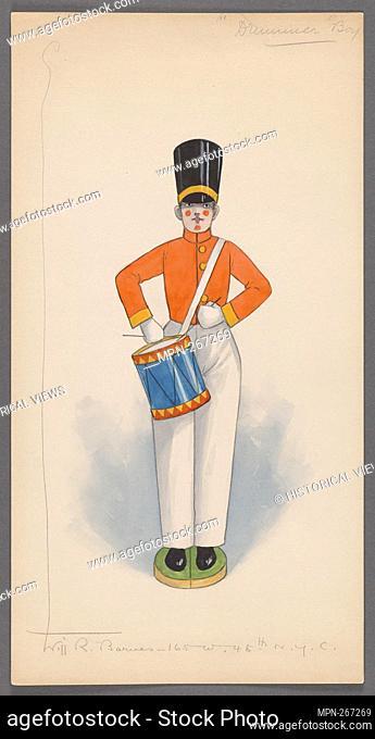 Drummer Boy. Burnside, R. H. (Robert Hubberthorne), 1873-1952 (Collector) Barnes, Will R., -1939 (Costume designer). R. H