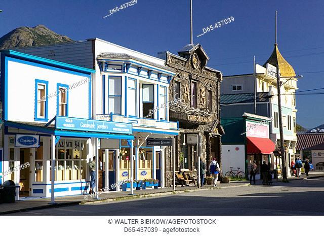 Broadway Street. Morning. Skagway. Southeast Alaska. USA