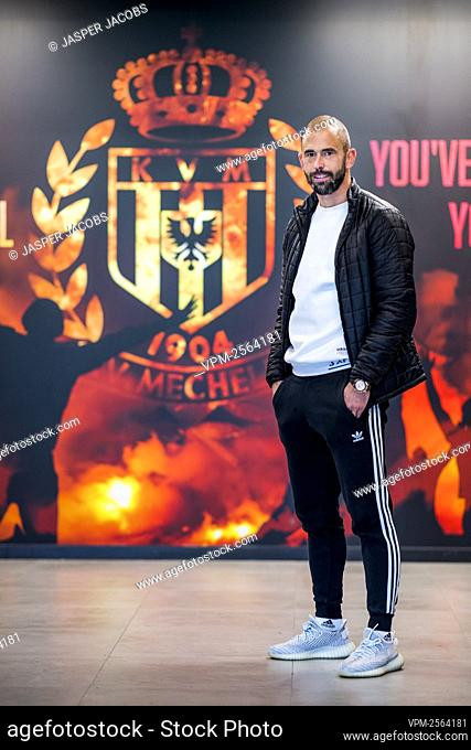 Mechelen's new player Steven Defour poses for the photographer at a press conference of soccer team KV Mechelen to present their latest transfer