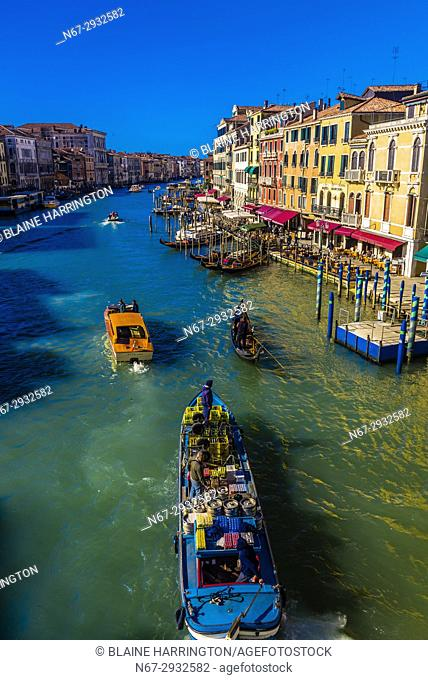 Overview of the Grand Canal, Venice, Italy