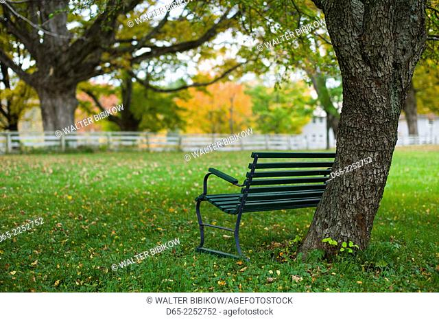 USA, New Hampshire, Canterbury, Canterbury Shaker Village, former Shaker religious community, Meeting House Lane, autumn