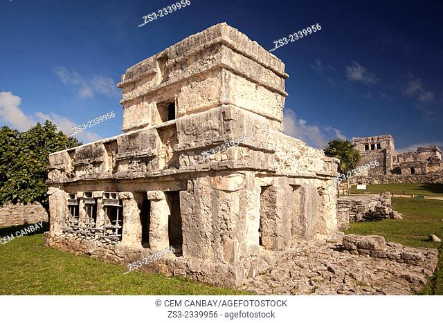 Prehispanic Mayan city of Tulum Archaeological Site, Tulum, Quintana Roo, Yucatan Province, Mexico, North America