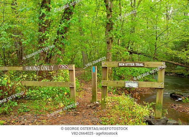 Ben Utter Trail trailhead, Arcadia Management Area, Rhode Island