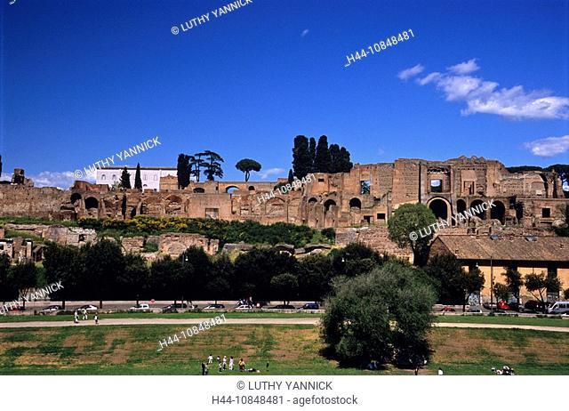 Italy, Europe, Rome, Lazio, centro storico, europe, historic centre, palatine hill, palatino, roma, rome province, sou