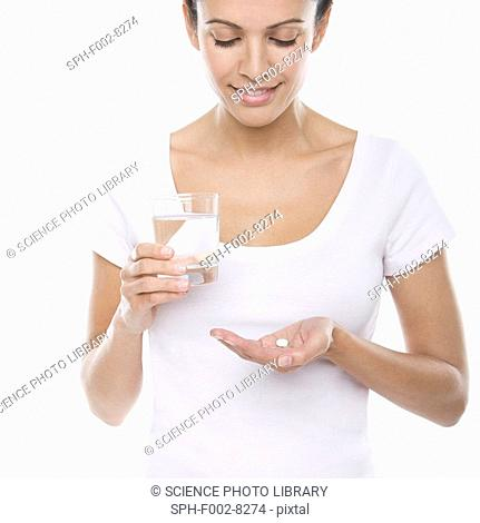 Taking a tablet