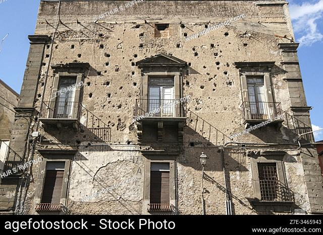 The architecture of Adrano. Sicily, Italy
