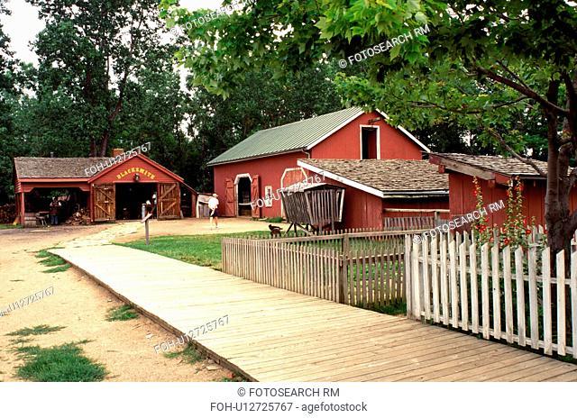 living history museum, Columbus, OH, Ohio, Ohio Village, blacksmith, a 19th Century Village. Ohio Historical Society