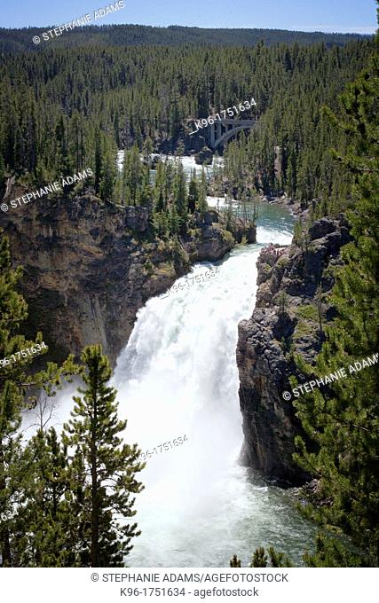 Upper Falls waterfall in Yellowstone National Park