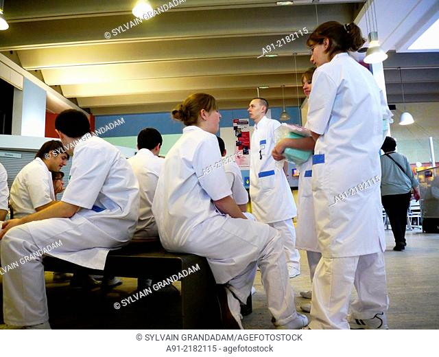 France, Provence, Gironde (33), city of Bordeau, medical students in the CHU Hospital