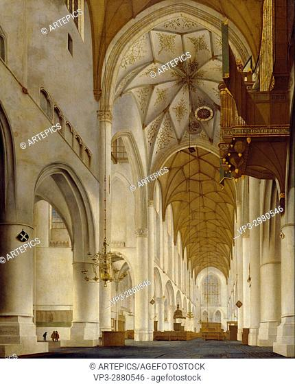 Pieter Jansz. Saenredam - The Interior of St Bavo's Church, Haarlem (the 'Grote Kerk') - National Galleries of Scotland