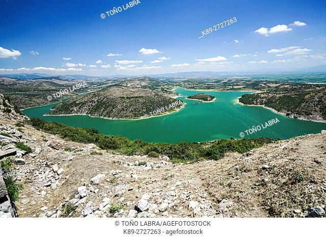 Kestel Dam from Pergamon. Ancient Greece. Asia Minor. Turkey