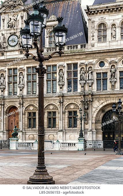 Hotel de Ville, City Hall and headquarters post office of Paris, Paris. France