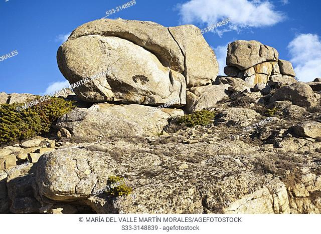 Granite rocks at Sierra Paramera. Navandrinal. Avila. Spain