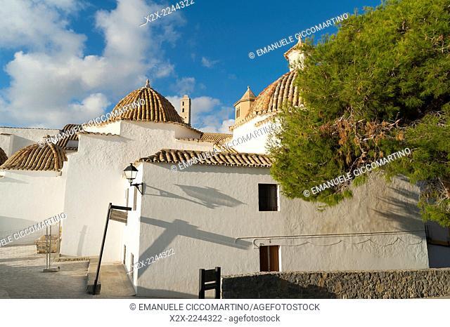 Ibiza Cathedral, Santo Domingo Convent, Old Town, Dalt Vila, Eivissa, Ibiza, Balearic Islands, Spain, Mediterranean, Europe