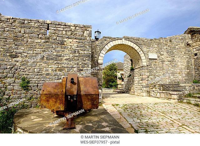 Albania, Vlore County, Saranda, Lekuresi Castle