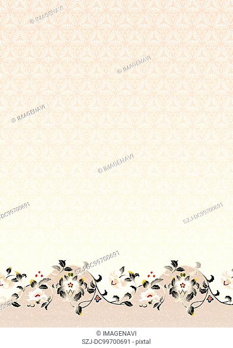 Oriental background with Japanese traditional pattern
