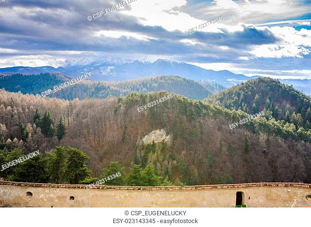 View Of mountains Old house Brasov