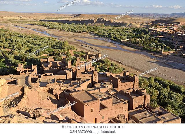 Ksar of Ait-Ben-Haddou, Ounila River valley, Ouarzazate Province, region of Draa-Tafilalet, Morocco, North West Africa