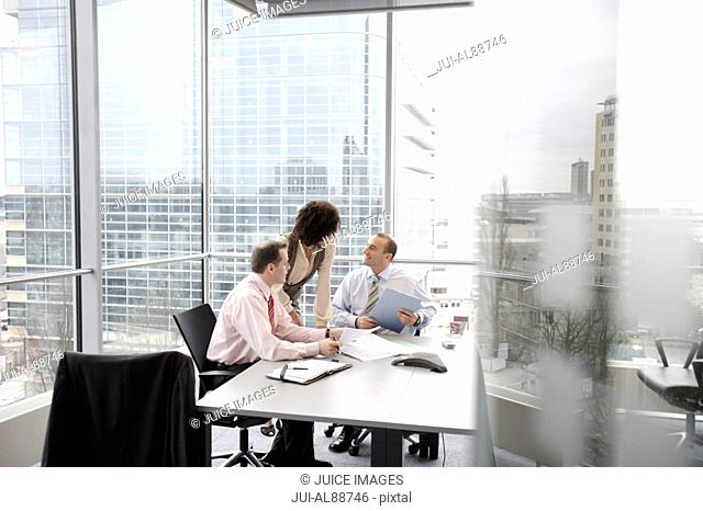 Businesspeople at meeting
