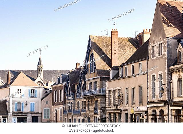 Part of the old town in Chartres, France