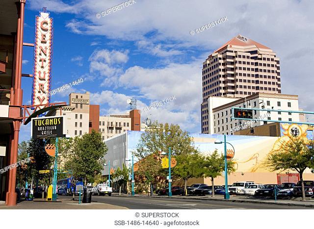 USA,New Mexico, Albuquerque, Central Avenue
