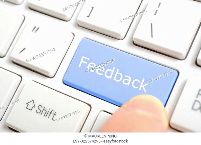 Pressing feedback key on keyboard