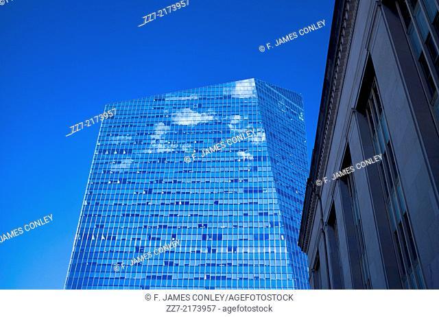 Philadelphia's Cira Center fades into the sky