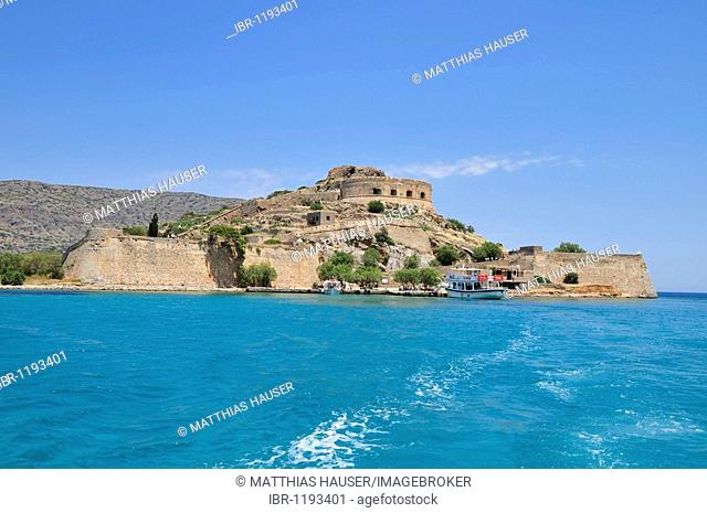Former leper colony on the island of Spinalonga, Kalidon, Eastern Crete, Crete, Greece, Europe