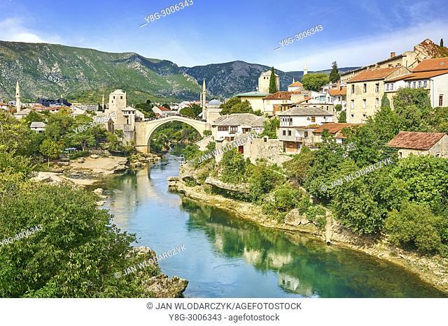 Mostar, Bosnia and Herzegovina - Stari Most or Old Bridge, Neretva River
